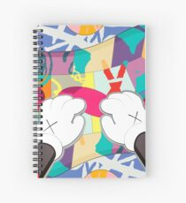 kaws paws 2 mickey   Spiral Notebook