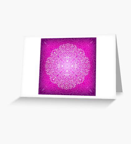 - Mandala pink - Greeting Card