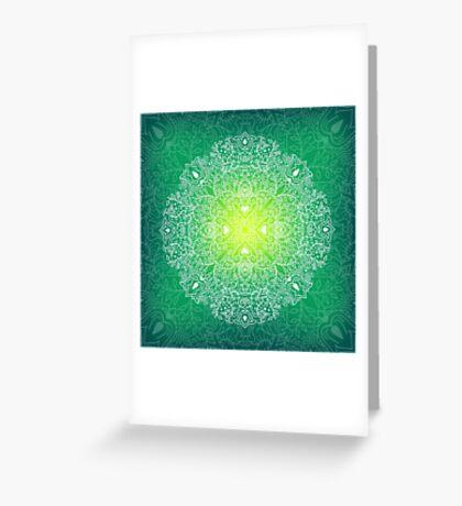 - Mandala green - Greeting Card