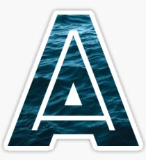 "The Letter ""A"" Ocean Sticker"