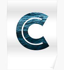"""The Letter """"C"""" Ocean Poster"""