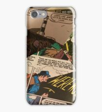 Mashing of Horror Comic Pages  iPhone Case/Skin