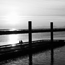 Steveston Pier - B&W by klcblair