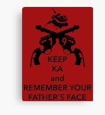 Keep KA - black edition Canvas Print