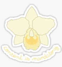 Consent is Mandatory - Yellow Orchid Sticker