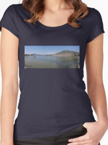 Panoramic Seascape of The Bay of Selimiye, Turkey Women's Fitted Scoop T-Shirt