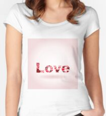 Inscription love Women's Fitted Scoop T-Shirt