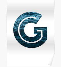 """The Letter """"G"""" Ocean Poster"""