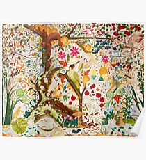 Jacobean Fantasy Forest Poster
