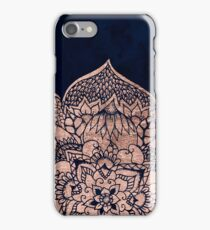Modern boho rose gold floral mandala watercolor iPhone Case/Skin