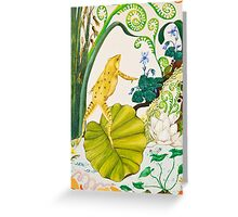 Frog and Lilly Greeting Card