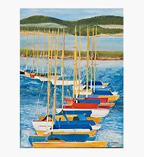 Yachts at Lymington Harbour Photographic Print