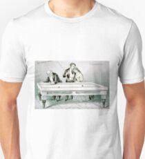 Billards - Froze together - 1874 - Currier & Ives Unisex T-Shirt