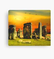 Surrealistic Stonehenge Canvas Print