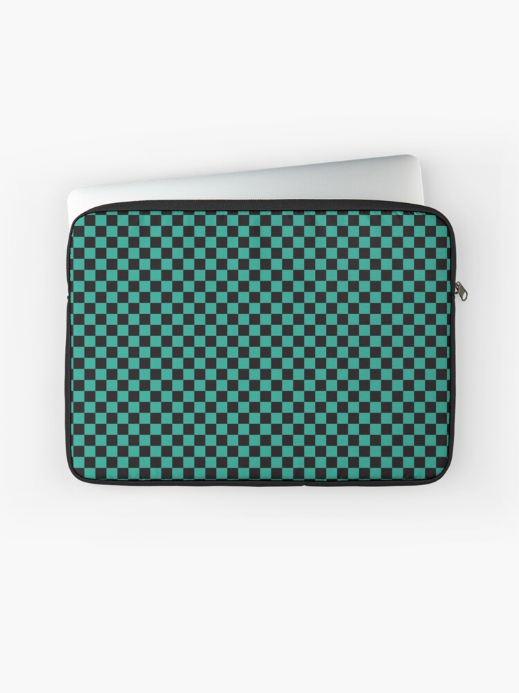 a04471bfe Minimalist check pattern. checkered square, Green and black. Checkered  pattern. Laptop Sleeve