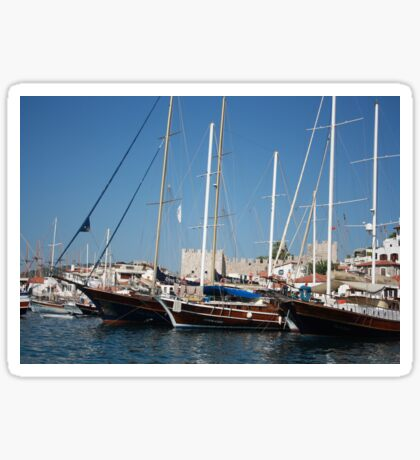 Traditional Turkish Gulets In Marmaris Harbour Sticker