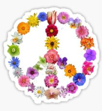Flower Peace Sign Sticker