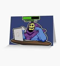 Even Masters of the Universe need java Greeting Card