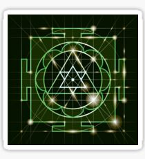 Ganapati Yantra - cosmic conductor of energy. Yantra Sree Ganesha. Sacred Geometry Sticker