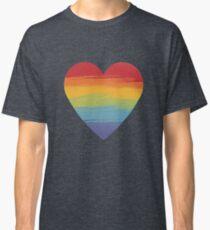 Rainbow Watercolour Heart Classic T-Shirt