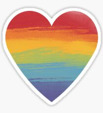Rainbow Watercolour Heart Sticker