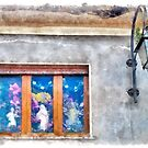 Vatolla: window and lampost by Giuseppe Cocco