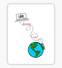 Long Distance Relationship Drawing Stickers Redbubble