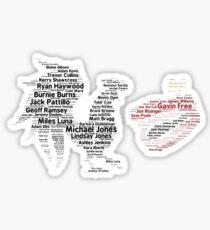 Roosterteeth Employee Typography Sticker