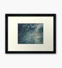 Claude Monet - Morning on the Seine Framed Print