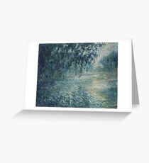 Claude Monet - Morning on the Seine Greeting Card