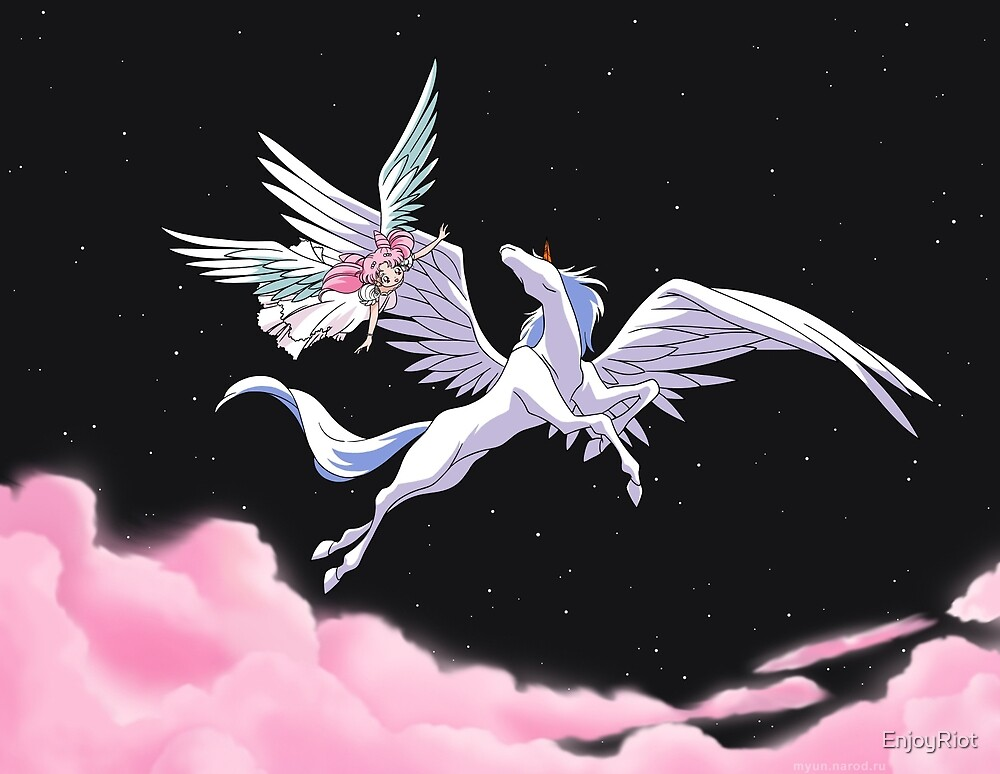 Pegasus winged unicorn - sailor cartoon by EnjoyRiot