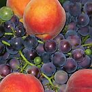 Peaches & Grapes by Christine  Wilson