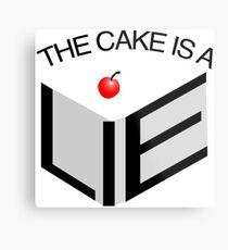 The Cake Is A Lie Metal Print