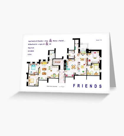 FRIENDS Apartment's Floorplans - V.2 Greeting Card