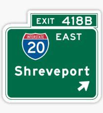 Shreveport, Road Sign, Louisiana Sticker