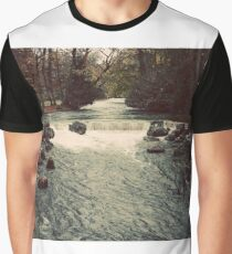 Waterfall Germany Color Photograph Graphic T-Shirt