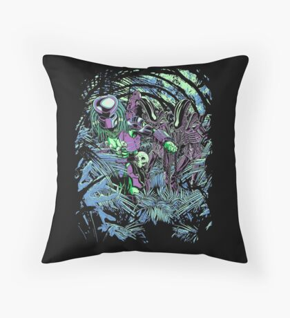 Welcome to the jungle. (neon) Throw Pillow