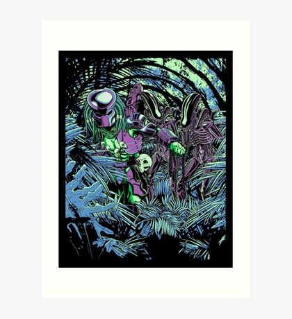 Welcome to the jungle. (neon) Art Print