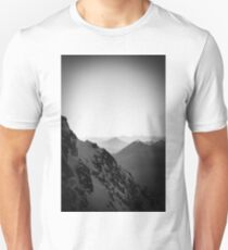 Zugspitze Germany Alps Mountain Black and White Unisex T-Shirt