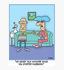 Funny Social Networking Cartoon Photographic Print