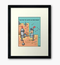 Old Military Humour Cartoon Framed Print