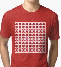 Kisses Kiss Prints Tri-blend T-Shirt