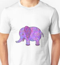 Purple Multicolored Elephant T-Shirt