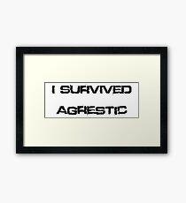 I Survived Agrestic Framed Print