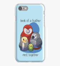 Birds of a feather nest together iPhone Case/Skin