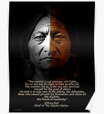 Sitting Bull Warrior quote. Poster Poster