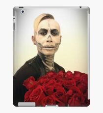 Halloween Skull Tux And Roses iPad Case/Skin