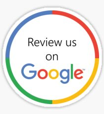 Review Us On Google Sticker