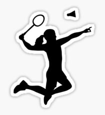 Badminton woman girl Sticker