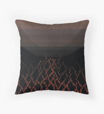 Pixel Volcanos Throw Pillow